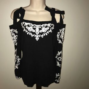 INC cold shoulder sweater blouse NWT